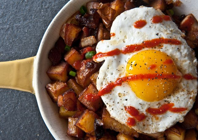 Chicken Hash With Sriracha. Now this is what we call a breakfast of champions.