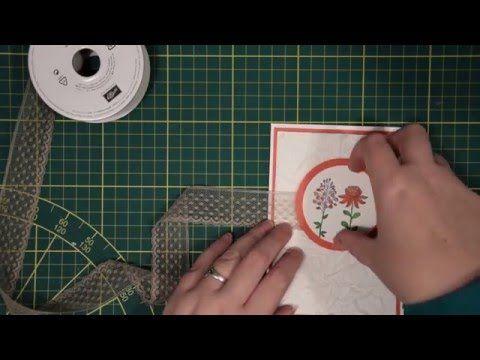 Faux Silk techniek op een Flowering Fields kaart, gemaakt met Sale-a-bration producten van Stampin' Up! | Het Knutsellab