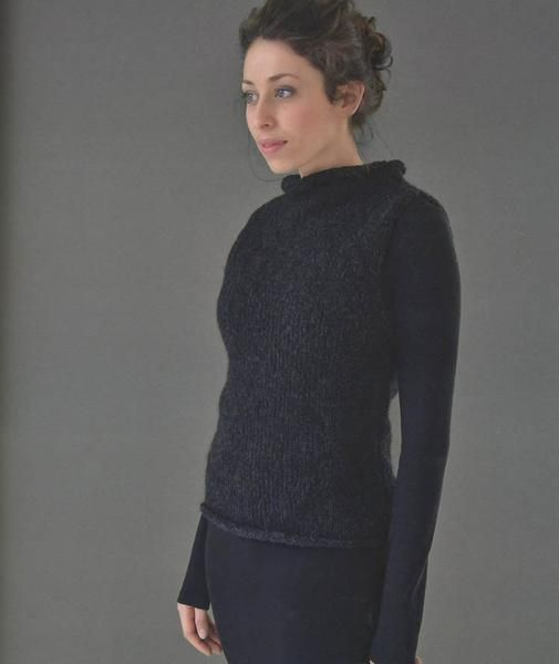 e4f514f85e38ef Black is a sleeveless roll-neck shell made out of Rowan s Brushed Fleece.  One of those great