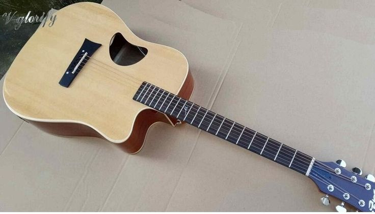 193.00$  Watch here - http://ain4x.worlditems.win/all/product.php?id=32579750130 - Solid Xi Tika top handmade acoustic electric guitar 41inch with tuner