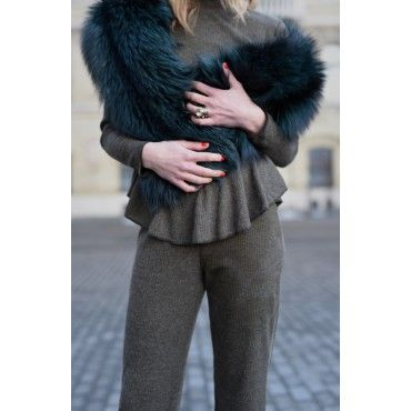 Khaki Knitted Trousers