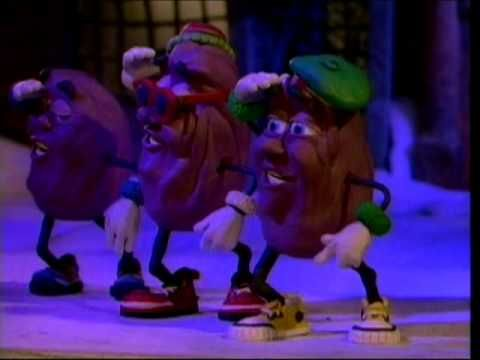 Reminds me of being a kid! Claymation Christmas - California Raisins - Rudolph The Red Nosed Reindeer.