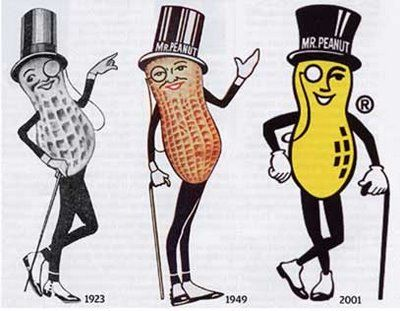 Mr. Peanut made Debonair Magazine's Top 10 Best Dressed Advertising Icons list.