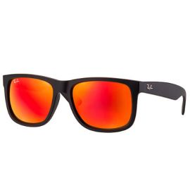 Ray Ban RB4165 Justin Color Mix sunglasses – Black Frame / Red Mirror Lens