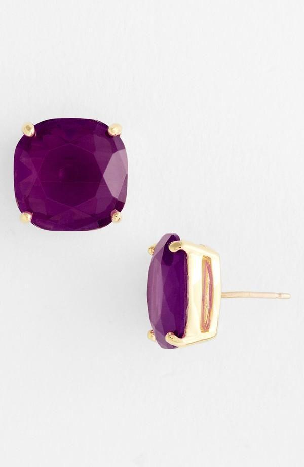 Love! Amethyst stud earrings | Kate Spade