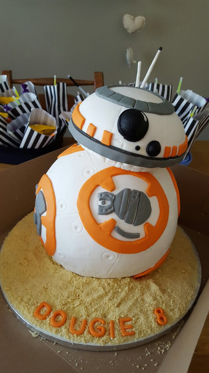 Bb8 cake for Star Wars party