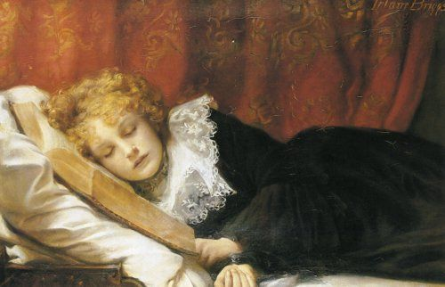 ✉ Biblio Beauties ✉ paintings of women reading letters & books - E. Irlam Briggs | A Book at Bedtime