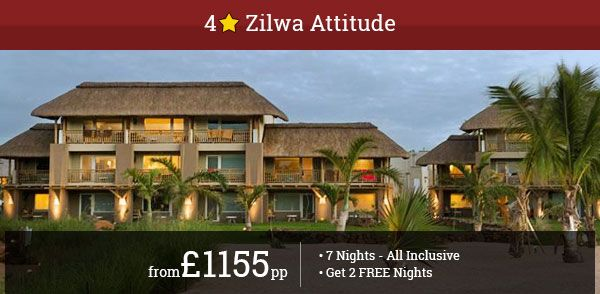 Discover marvellous Mauritius with Zilwa Attitude. Enjoy world-class facilities near picturesque beaches. Get 2 Free Nights! Call Now!