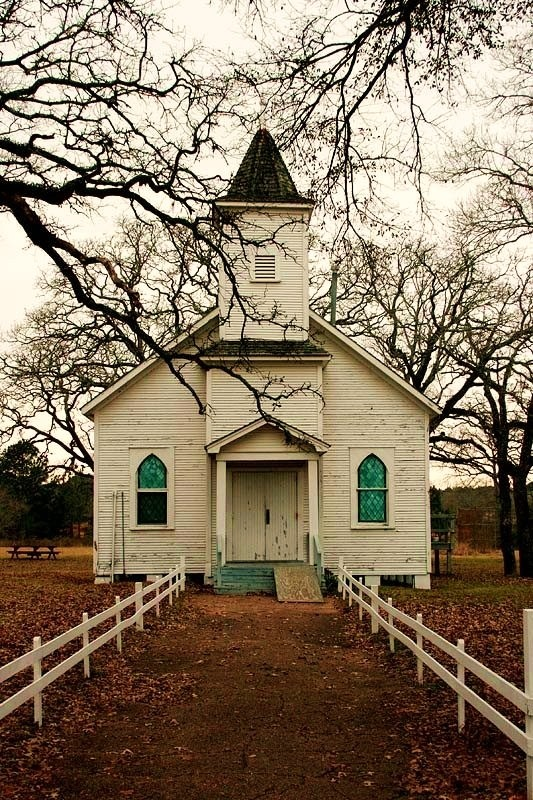 Little country church.  Looks very much like the one my father attended.