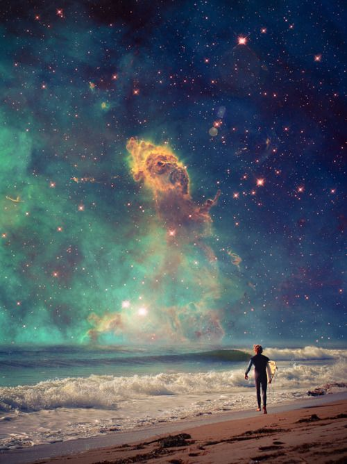 astronomy, outer space, space, universe, scenery, landscapes, stars, nebulas, beaches, oceans, water