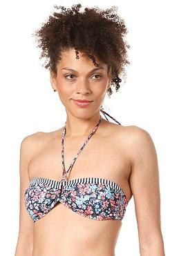 ONEILL Womens M and M Print Bandeau Bikini Top blue aop