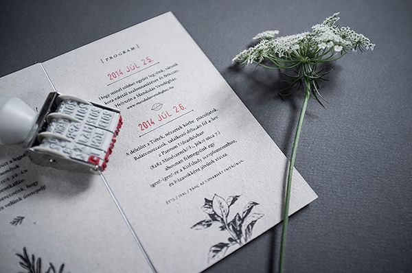 graphic design for two architect friend's wedding