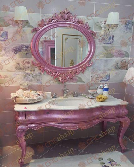 UYGULAMA GÖRSELLERİ | Cnchsap.NET + Eksen Cnc Kesim Oymalı Klasik Bombe Banyo Dolabı ve Banyo Ayna Çerçevesi