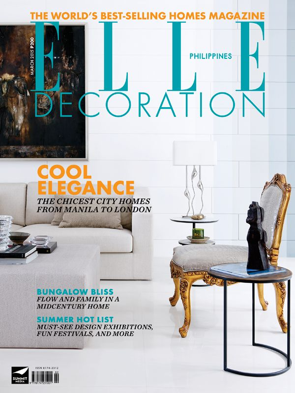 ELLE Decoration Philippines March 2015 Cover Photography By Miguel Nacianceno