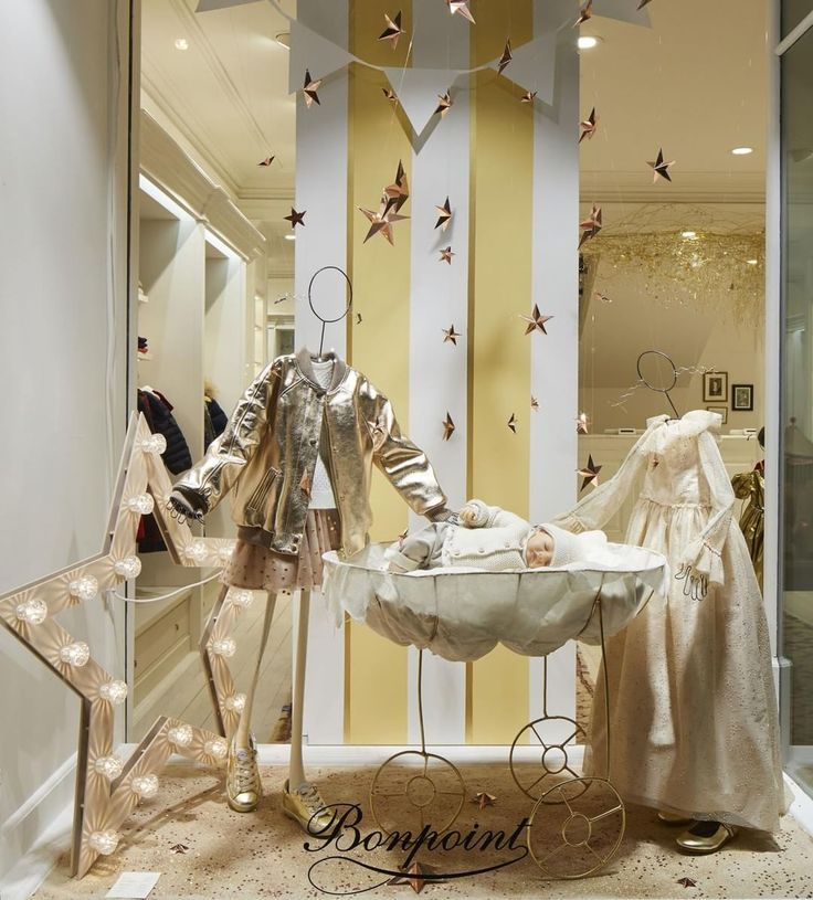 "BONPOINT, Rue de Servres Paris, France, ""A rain of stars, a charming cradle and a little fairy, feel the magic of Christmas at Bonpoint"", pinned by Ton van der Veer"