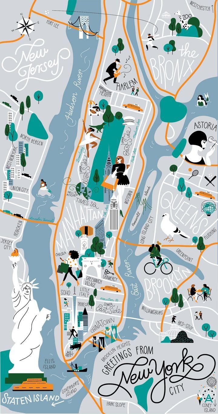 New York 8 Jours Au Cœur De La Big Apple Les Pieds Dans Le Vide En 2020 Illustration De Ville Illustration De Voyage Cartes Illustrees