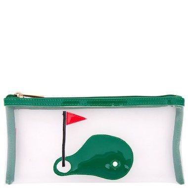 LOLO Mesh Moya Golf Green Cosmetic Bag