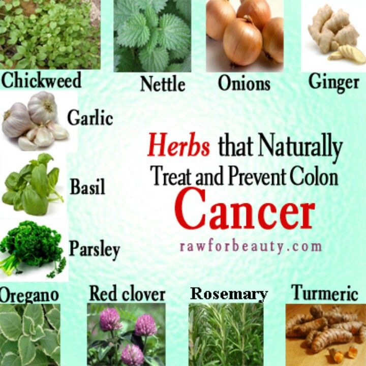 Herbs for colon cancer