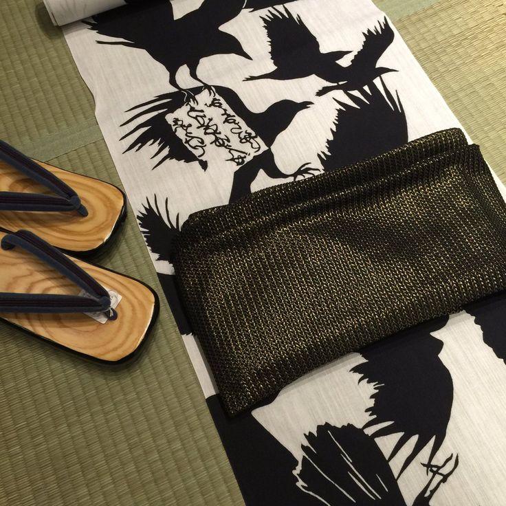 rainbow in your eyes | tanuki-kimono: Striking crows yukata outfits,...