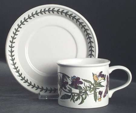 Portmeirion Botanic Garden Drum Breakfast Cup & Saucer Set