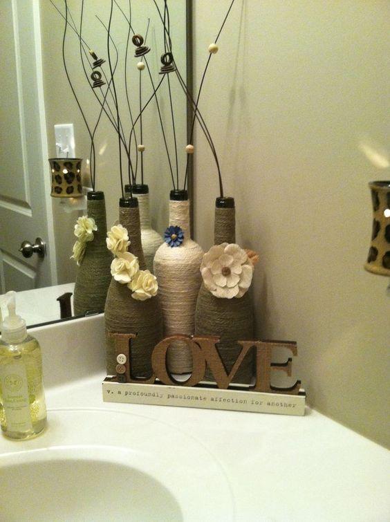 die besten 25 flaschen dekorieren ideen auf pinterest. Black Bedroom Furniture Sets. Home Design Ideas