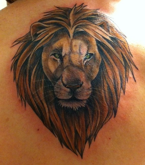 tattoos+of+lions+for+girls | Heart Of A Lion Tattoo Girl ...