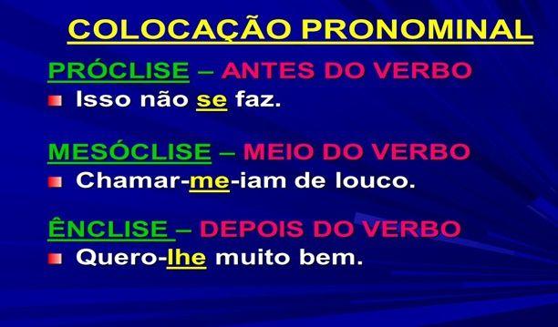 Próclise, Mesóclise, Ênclise, Pronomes Átonos e Locuções Verbais
