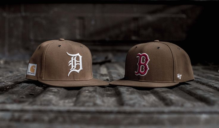 I'm really rather envious of the role that hometown pride plays in the American psyche and the way that the major leagues are able to tap it in a less tribal way than European football. This MLB license brings together '47 (vintage sportswear) and Carhartt (workwear) to explore the nostalgic link between baseball & honest labour. Fittingly, the 3-year collaboration + license launches with capsules dedicated to the brands' hometown teams: Boston & Detroit