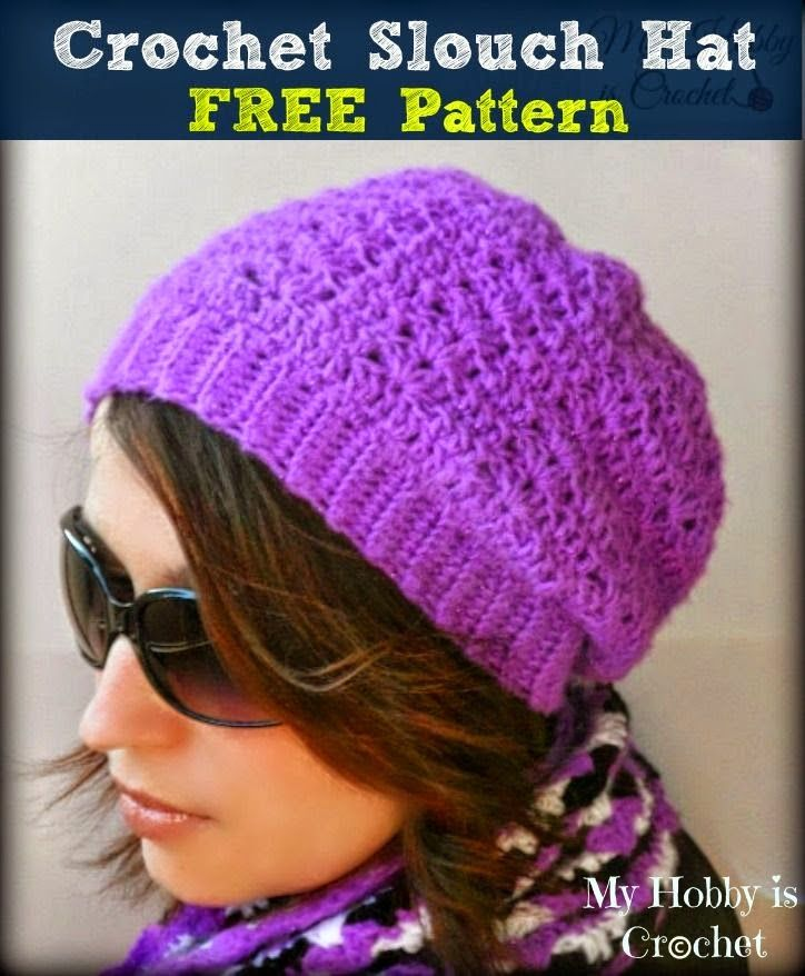 My Hobby Is Crochet: Hypnotic Heart Slouch Hat - Free ...