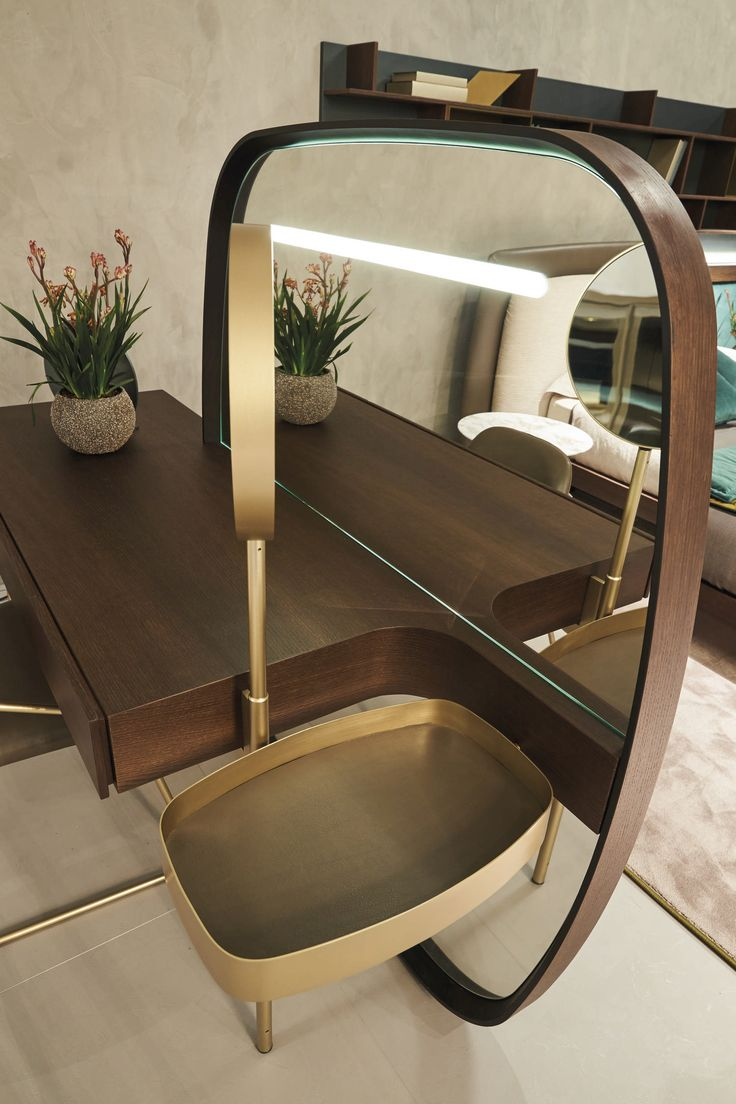 Not only a consolle, not a make up table but a real design element to enrich your bedroom with elegance. #vanity #fimes #furniture #design #interiordesign #elegance #quality #ilsalonedelmobile2017 #makeup #mirror #bedroom #madeinitaly