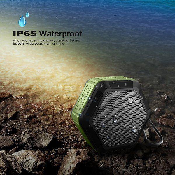 BS037 Mini Waterproof IP65 Dustproof Outdoor Wireless Stereo Bluetooth Speaker