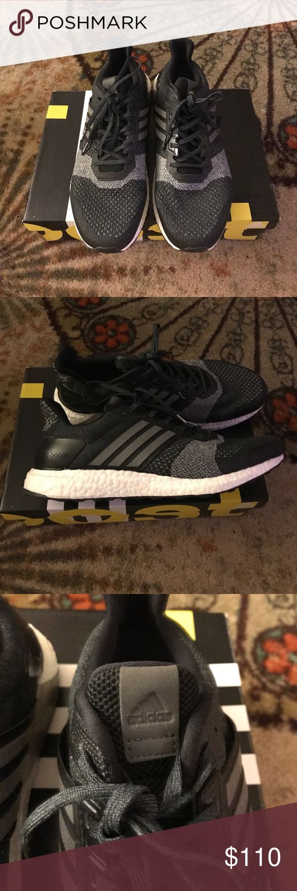 Adidas ultra boost st Black, white, and grey men's adidas ultra boost st. Size 10.5. Worn once. adidas Shoes Athletic Shoes