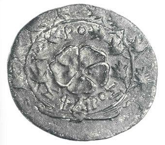 ancient greek coins - bronze coin