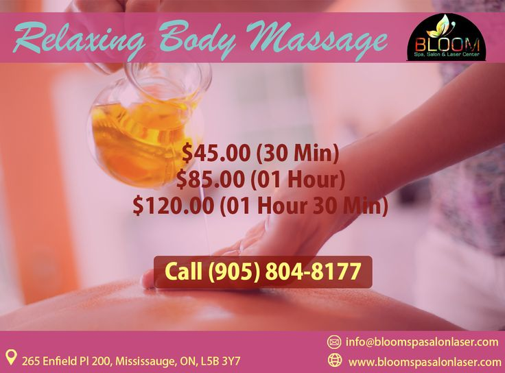 BLOOM Presents Relaxing Body Massage Package , Now Make Your Self Feel Relaxed With Our Package.  45$ (30 Mins) 85$ (1 Hour)  120$ (1 Hour & 30 Mins) For More Info & Appointment : Call : 904-804-8177 Visit : www.bloomspasalonlaser.com #salonnspa #Nails #nail #Beauty #Fashion #manicure #beautiful #cute #pedicure #silver #bridalmakeup