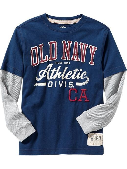 old navy athletics varsity graphic tee