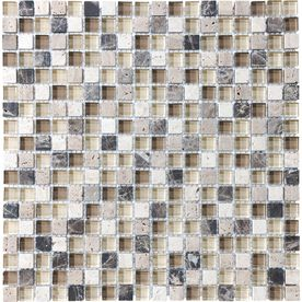 �Java Mixed Material Mosaic Square Wall Tile (Common: 12-in x 12-in; Actual: 11.87-in x 11.87-in)