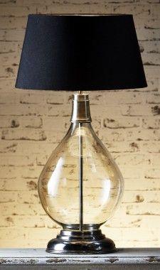 Nero Glass Table Lamp Base