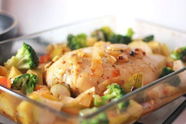 Индейка с грушами и брокколи в кисло-сладком соусе | Kurkuma project (Проект Куркума) Тем, кто будет есть вместе с вами, посоветуйте класть кусочки груши на кусочки индейки — это будет особенно вкусно:)