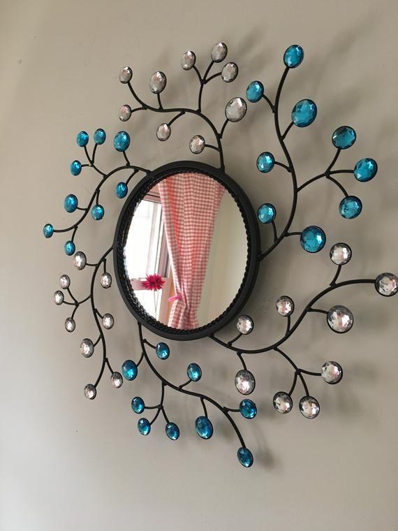 Decorative Starburst Mirrormetal Wall Mirrorwall Hanging Etsy Diy Crafts For Home Decor Mirror Wall Art Mirror Crafts