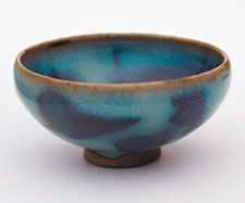 Jun Ware Bowl with Purple Splash Glaze, Northern Song Dynasty (960-1127).