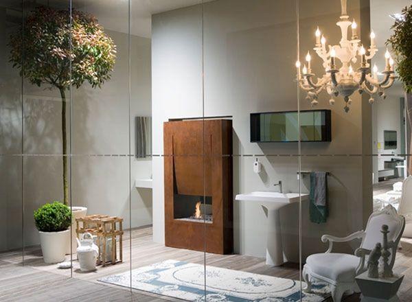 Trendige Individuelle Badezimmer Mit Kaminen Fur Eine Romantische Atmosphare Diy Design Dekoration Badezimmer Licht Wohnungsbeleuchtung Modernes Badezimmerdesign