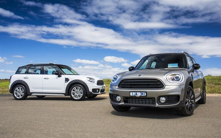 Download wallpapers MINI Countryman, 4k, 2018 cars, crossovers, MINI