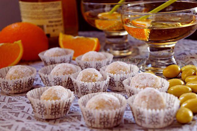 Τρούφες Λευκής Σοκολάτας και Πορτοκαλιού