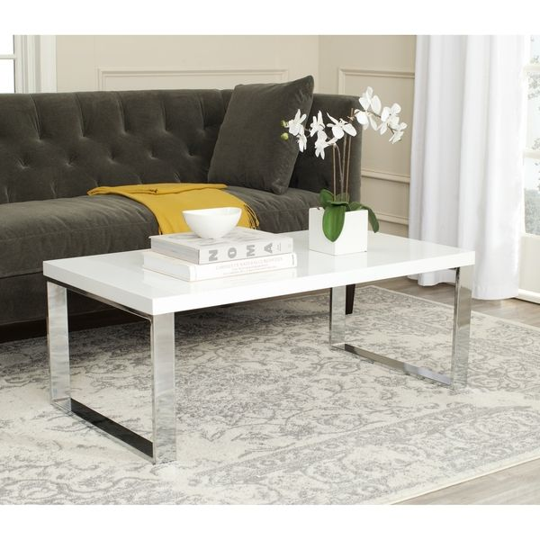 Safavieh Rockford White/ Chrome Coffee Table - Overstock™ Shopping - Great Deals on Safavieh Coffee, Sofa & End Tables