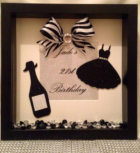 Personalised 21st Birthday Graduation Prom 3D Box by Joyeriauk