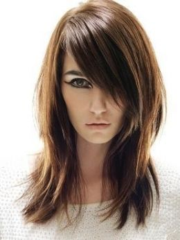 New hair cut? Long hairstyle with sides bangs