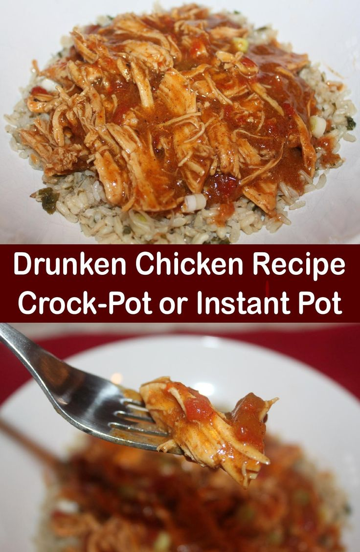 Drunken Chicken Recipe – Out Of This World Chicken! Crockpot & Instant Pot Recipes!