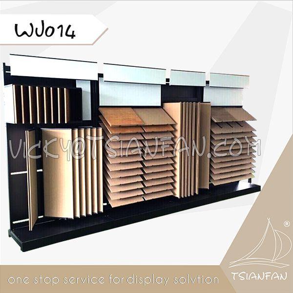 WJ014--Ceramic Tile Display Samples Metal Rack Timber Tile Stand