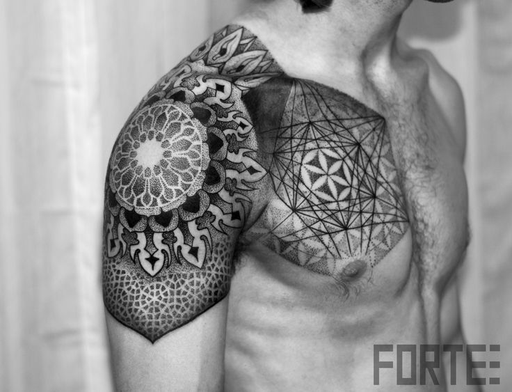 Sacred Geometry Tattoo Forearm Sacred geometry tattoo.  This is one of my favorites.