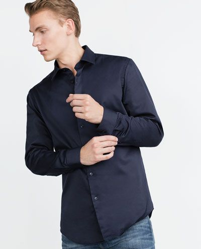 Image 1 of CLASSIC TWILL SHIRT from Zara